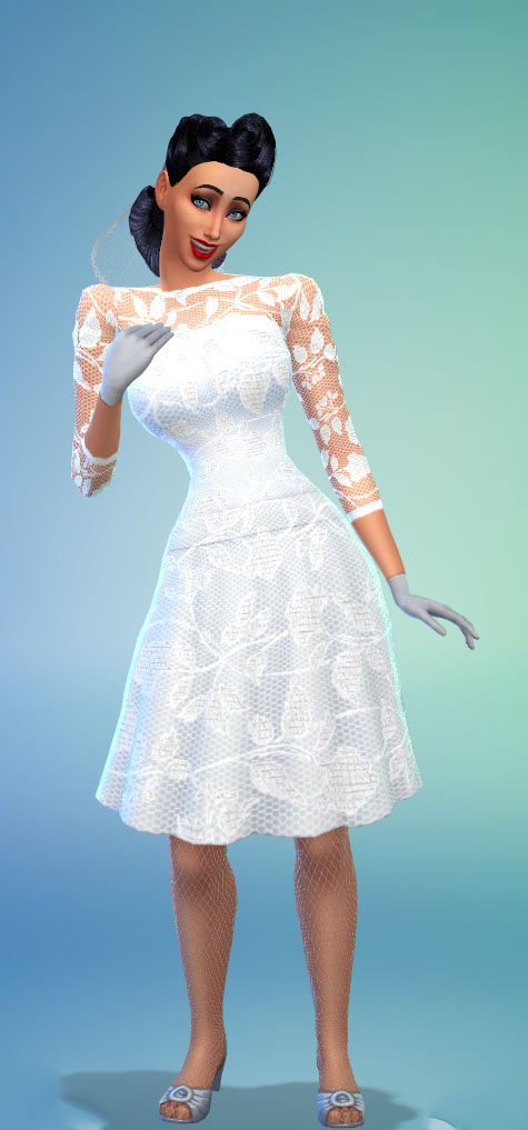 Sims 4   Romantic Lace Wedding gown With Two Skirt Lengths. Sims 4 Downloads   Create A Sim   Team Overpowered