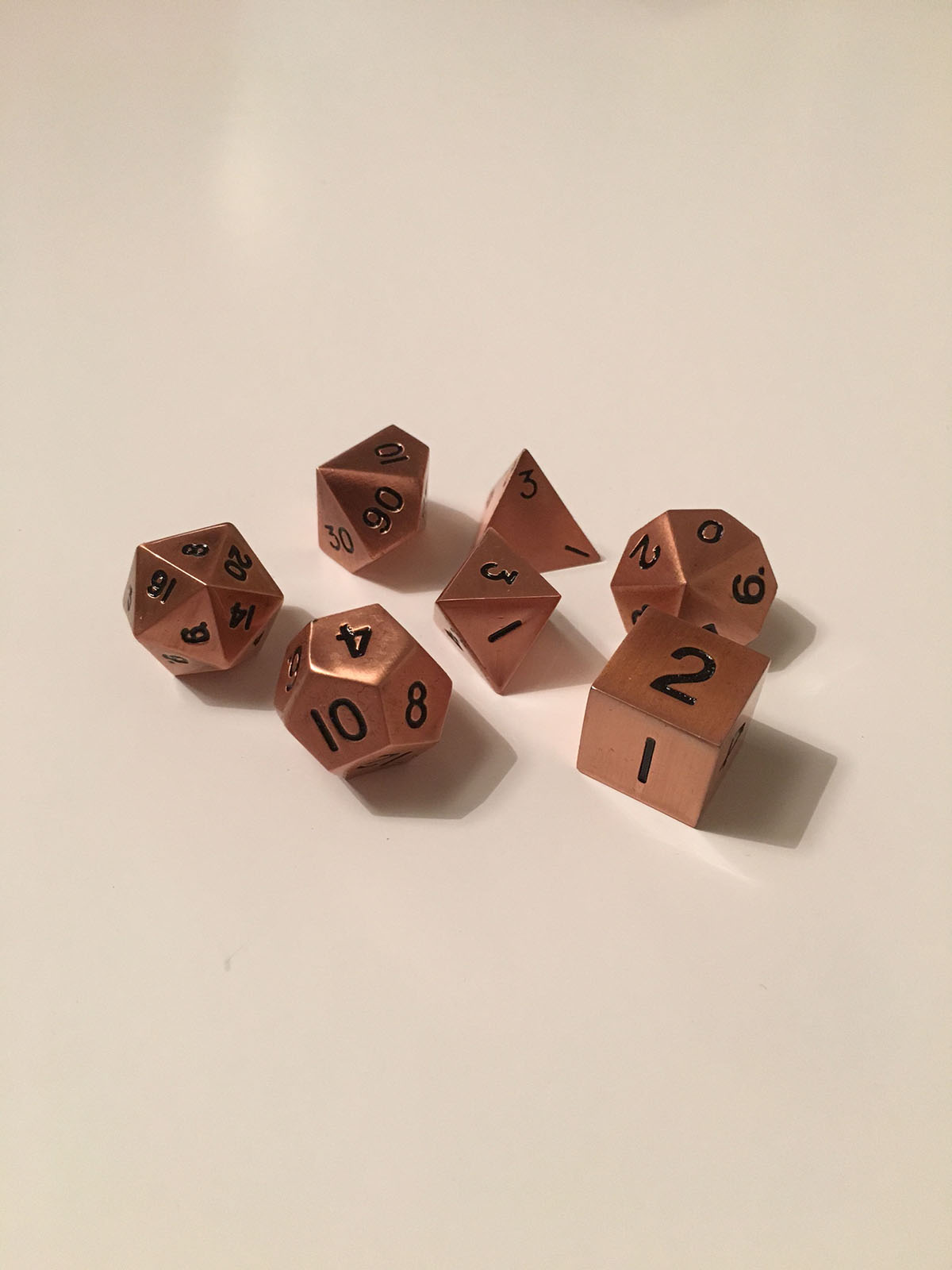 copper-dice-set